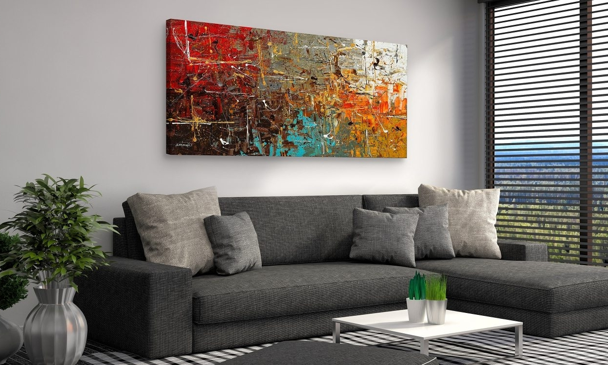 Well Liked Inexpensive Abstract Wall Art Pertaining To How To Choose The Best Wall Art For Your Home – Overstock (View 15 of 15)