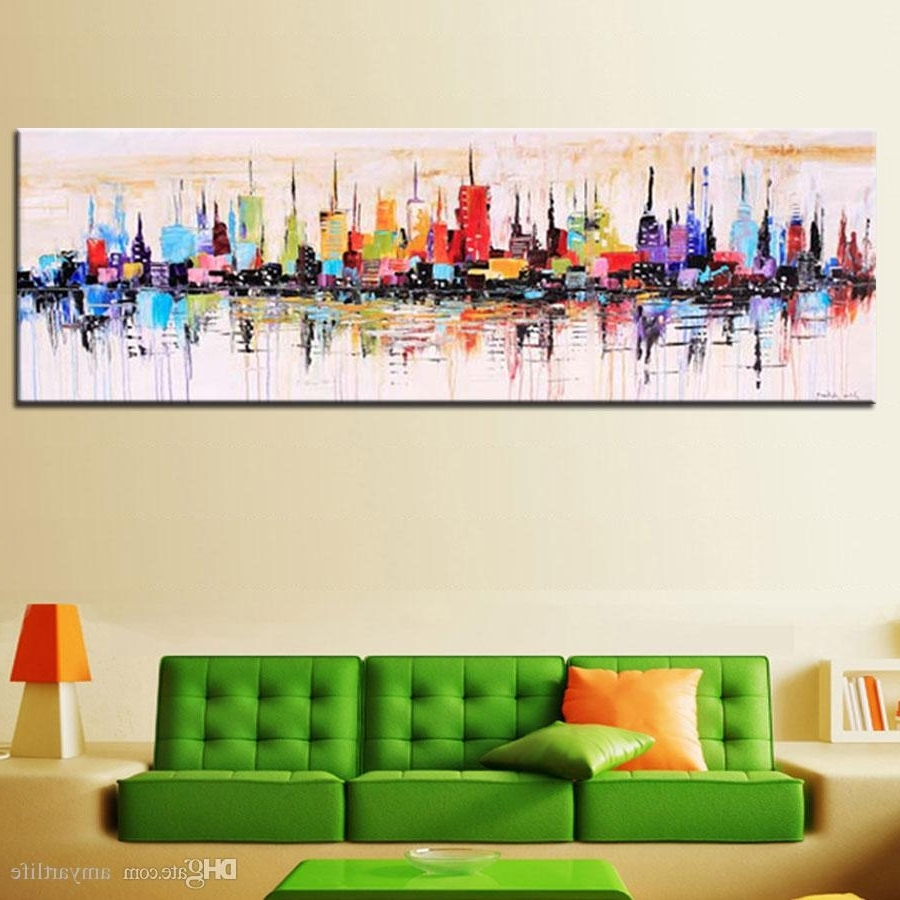 Well Liked Large Abstract Wall Art Pertaining To 2018 Fashion Modern Living Room Decorative Oil Painting (View 15 of 15)