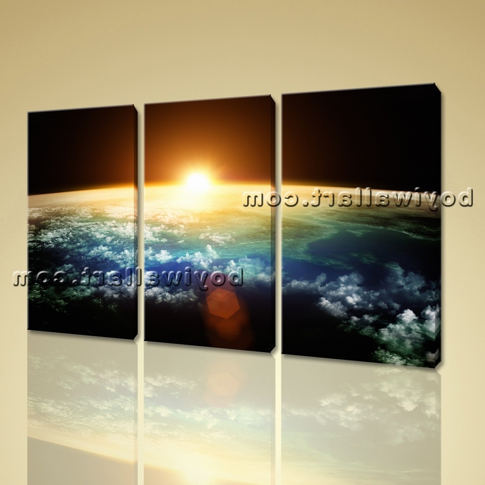 Well Liked Large Planet Earth Sunset Other Photography Wall Art Printed On Within Photography Wall Art (View 11 of 15)