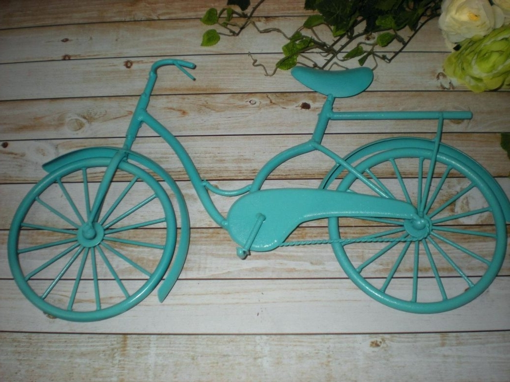 Well Liked Metal Bicycle Wall Decor Accentashlandr Inspirations Art Ideas Inside Metal Bicycle Art (View 2 of 15)