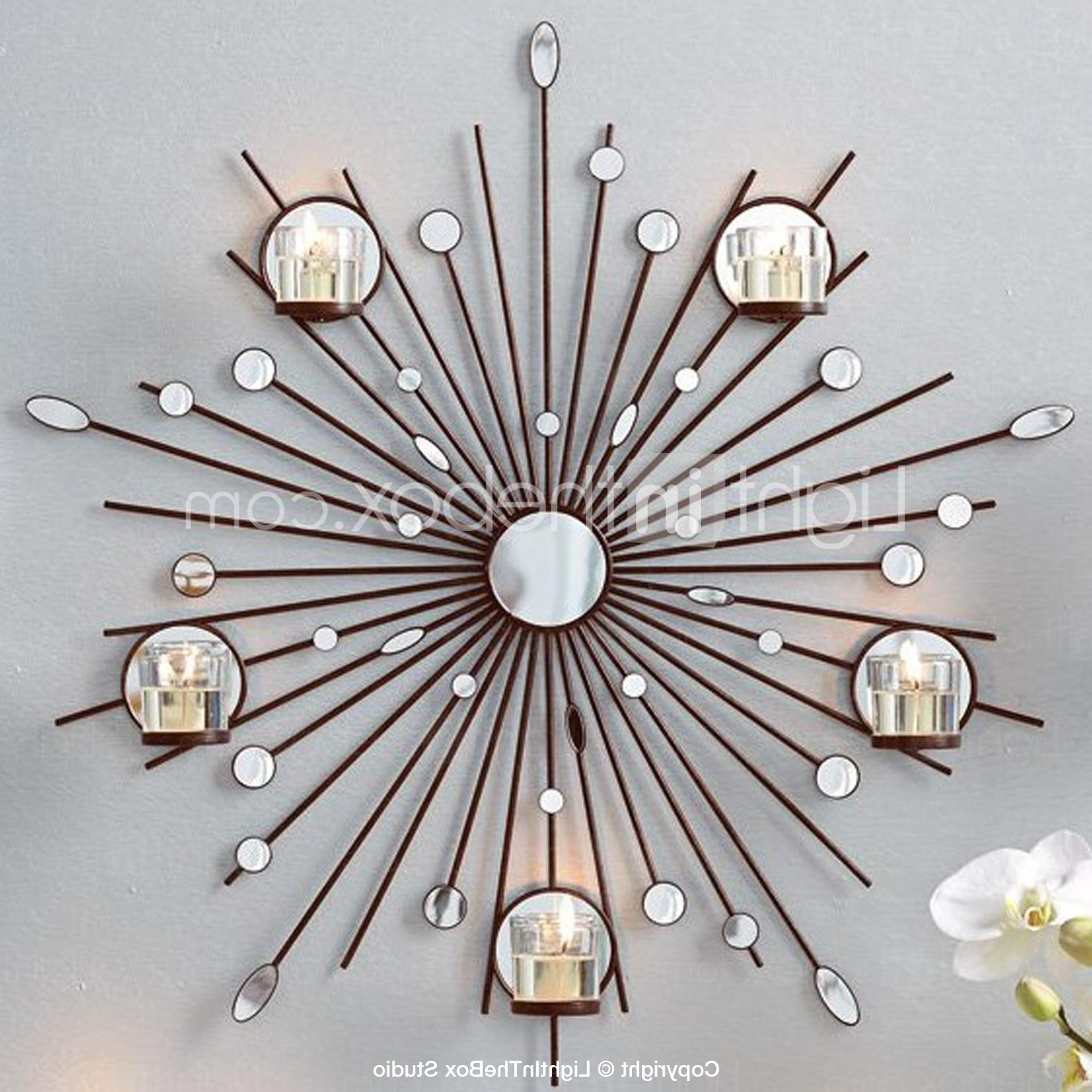 Well Liked Metal Wall Art Wall Decor,the Sun Mirror Candlestick Wall Decor Within Metal Wall Art With Candles (View 15 of 15)