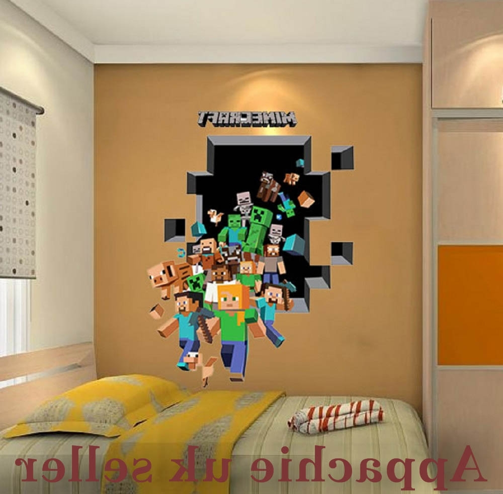 Well Liked Minecraft Wall Art Uk With 3D Wall Stickers For Kids u2013 Home Design ( & Photo Gallery of Minecraft Wall Art Uk (Showing 6 of 15 Photos)