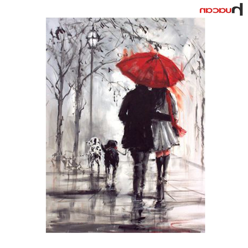 Well Liked Mosaic Wall Art Kits Throughout 3D Couple Umbrella Diamond Painting Diy Diamond Mosaic Kit Crystal (View 15 of 15)