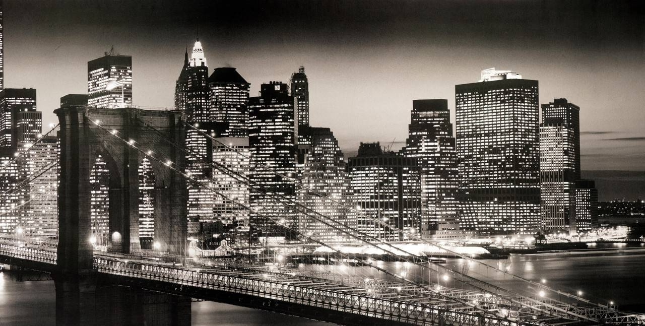 Gallery Of New York Skyline Canvas Black And White Wall Art