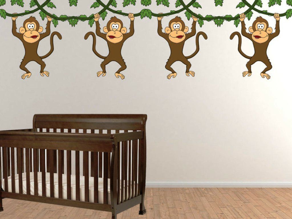 Well Liked No More Monkeys Jumping On The Bed Wall Art Inside Bedding Five Little Monkeys Nursery Rhymes Video No More Monkeys (View 12 of 15)