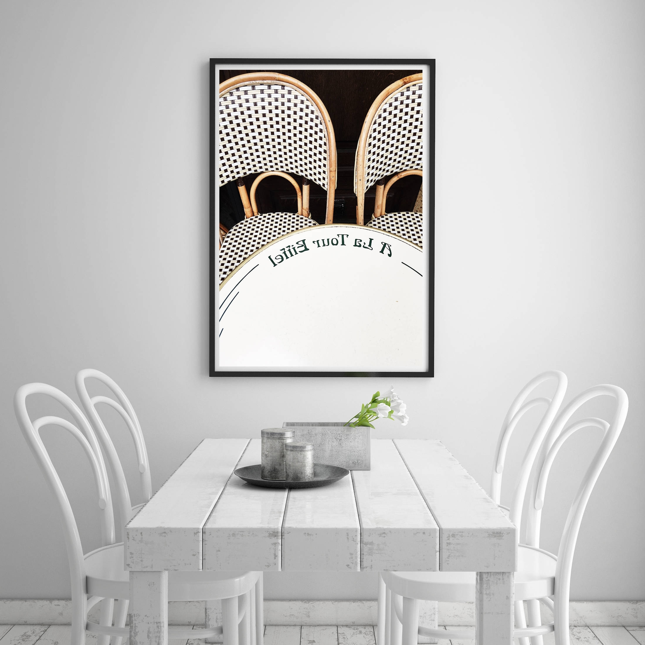 Well Liked Paris Cafe Chairs, Eiffel Tower Cafe, Paris Apartment Decor Within Neutral Wall Art (View 12 of 15)