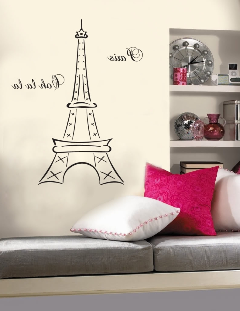 Well Liked Paris Wall Decals Stickers (View 15 of 15)