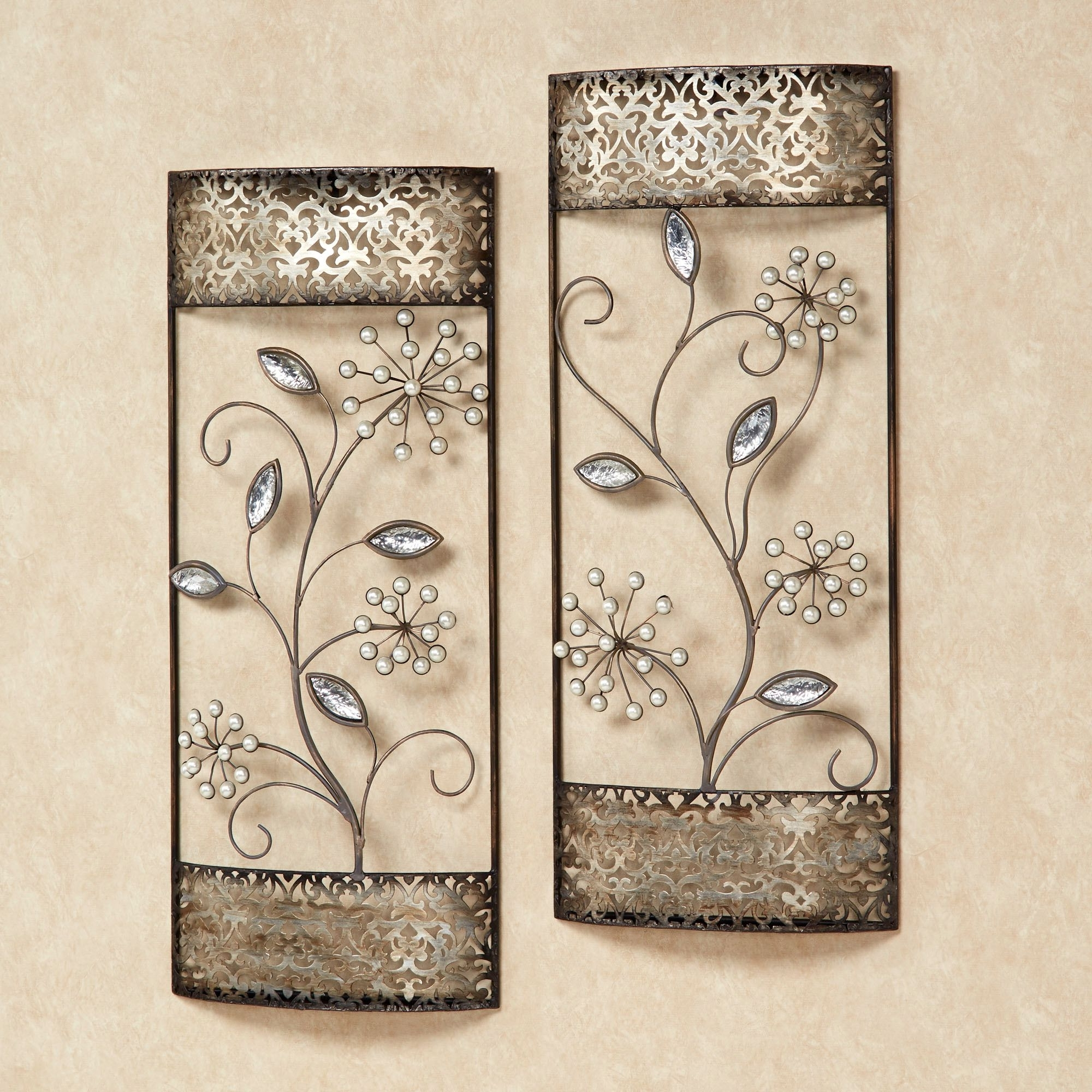 Well Liked Pearl Shimmer Wall Art Set Champagne Silver Set Of Two (Gallery 9 of 15)