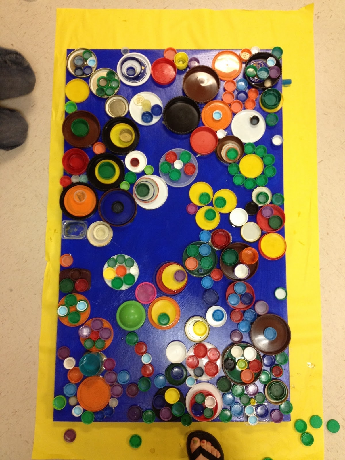 Well Liked Recycled Wall Art With Candice Ashment Art: Reduce*reuse*recycle Bottle Lids Wall Art (View 15 of 15)