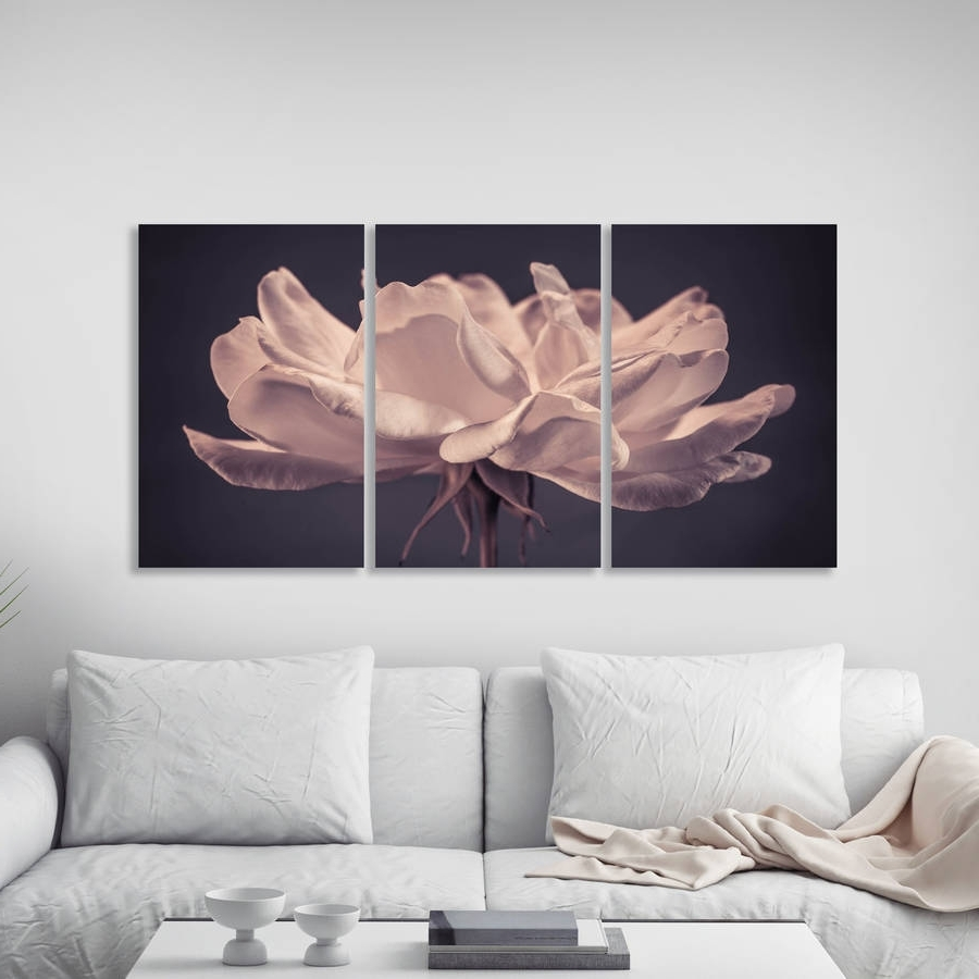 Well Liked Rose Canvas Wall Art With Regard To Remarkable Design Rose Wall Art Red Painting On Gray And Black (View 15 of 15)