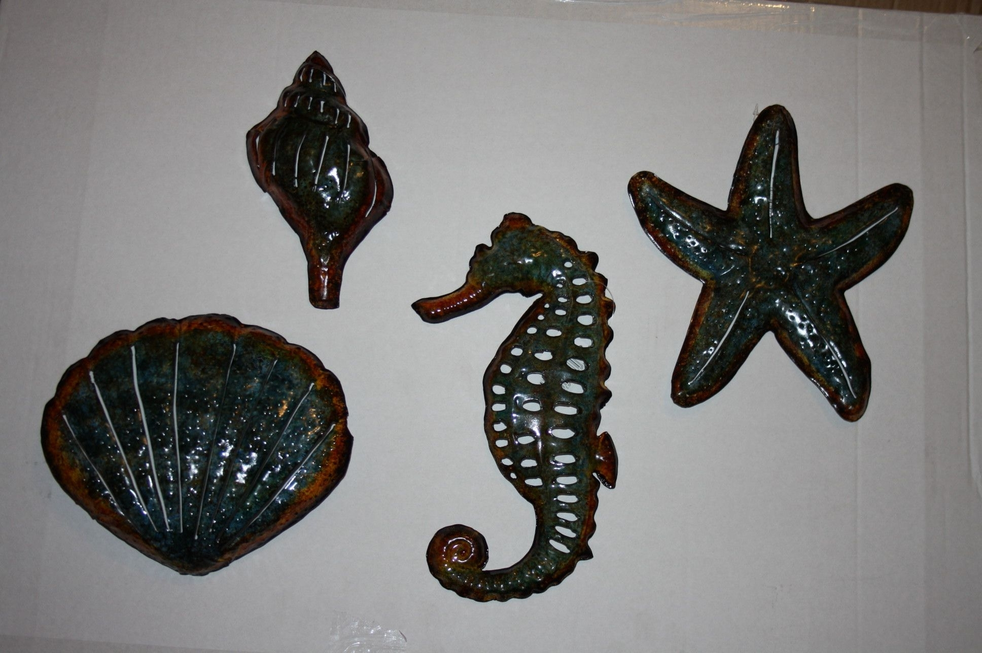 Well Liked Set Of 4 Bathroom Seaside Metal Wall Art Now Only  (View 15 of 15)
