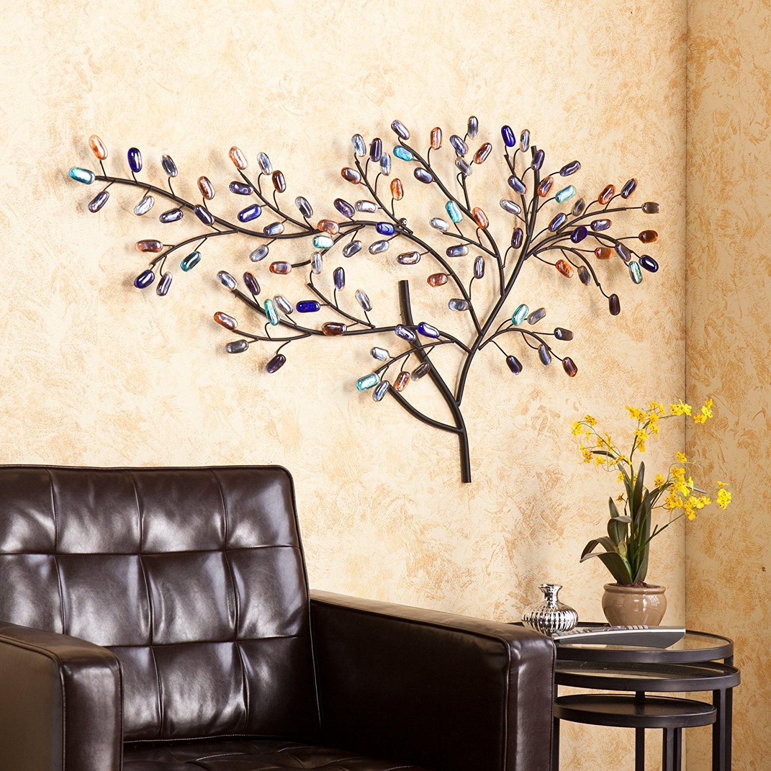 Well Liked Southern Enterprises Abstract Wall Art Intended For Tree Of Life Metal Wall Art Large Decoration With Branch And Leaves (View 15 of 15)
