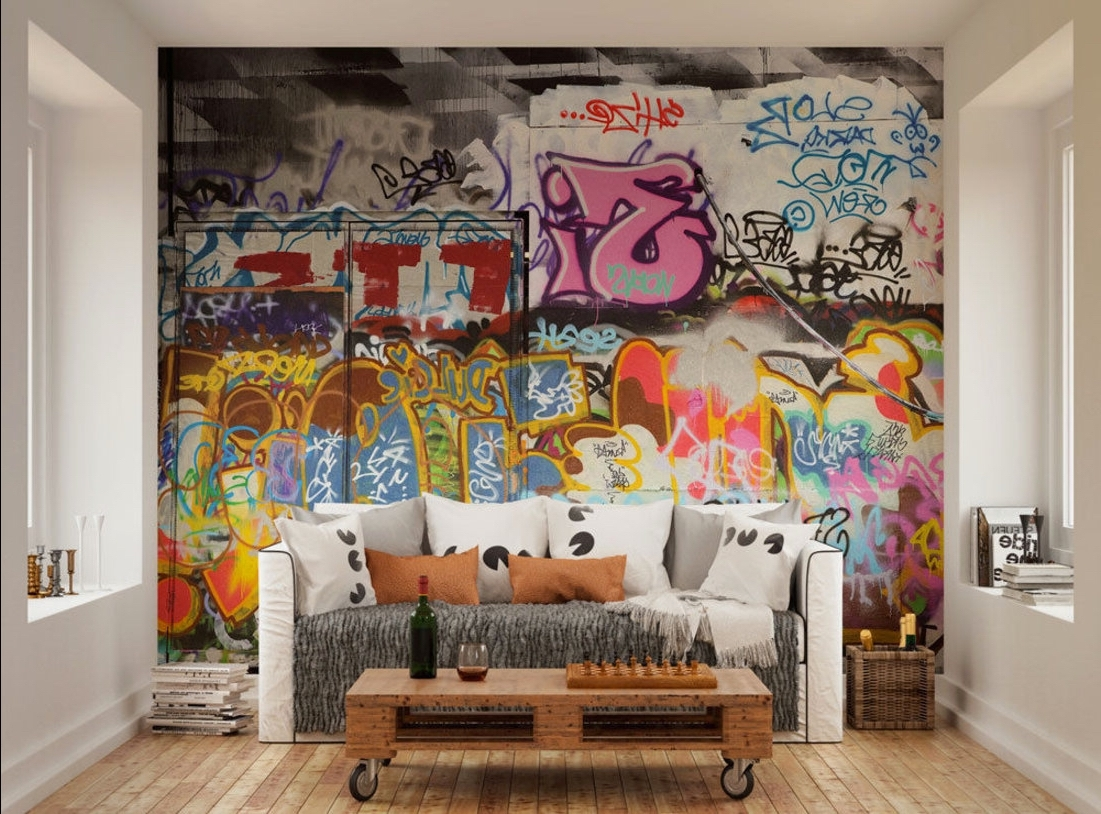 Well Liked Street Wall Art Decals Inside Photo Wallpaper Wall Murals Urban Street Art Graffiti Wall Decals (View 15 of 15)
