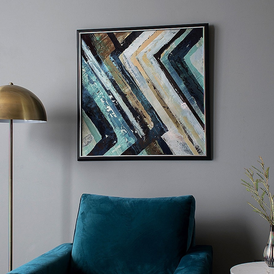 Well Liked Teal And Black Wall Art Awesome Arcadia Abstract Framed Wall Art In Teal And Black Wall Art (View 14 of 15)
