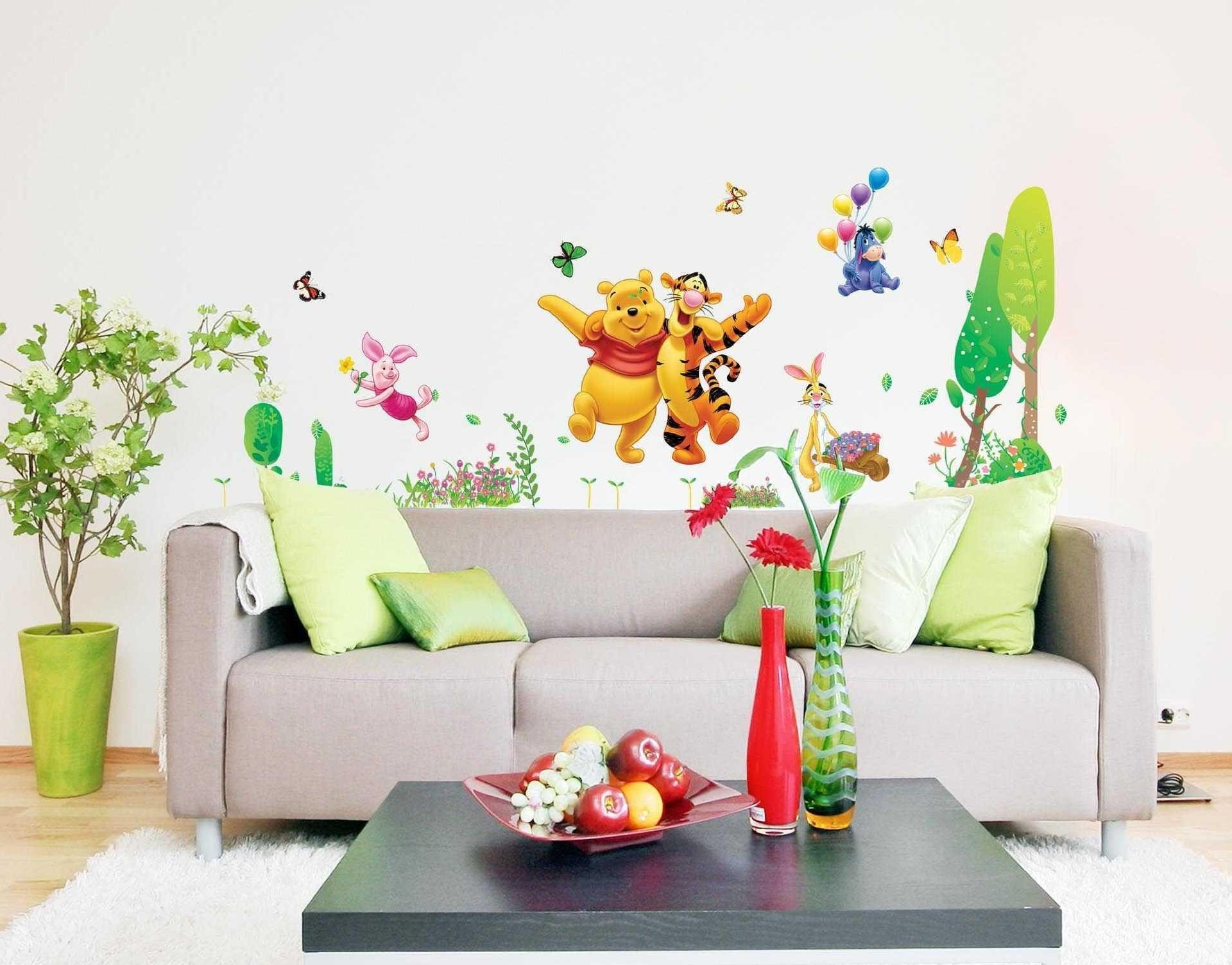 Well Liked The Pooh And Jumping Tigger Wall Sticker Inside Winnie The Pooh Wall Decor (View 12 of 15)