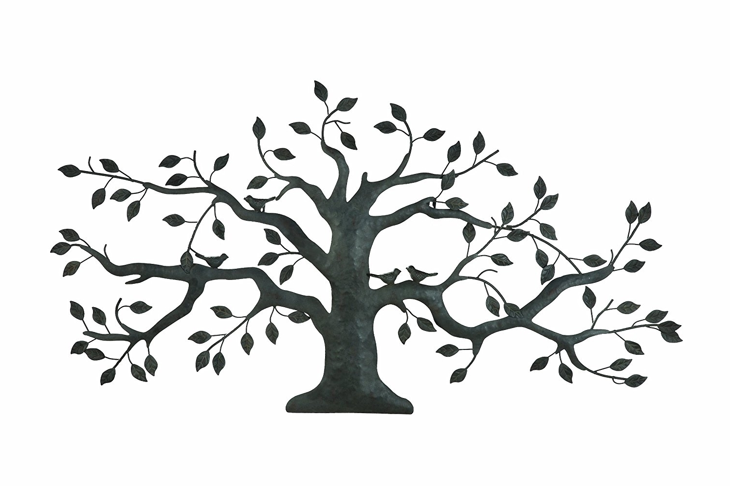 Well Liked Tree Of Life Metal Wall Art Large Decoration With Branch And Leaves Regarding Windy Oak Tree Metal Wall Art (View 14 of 15)