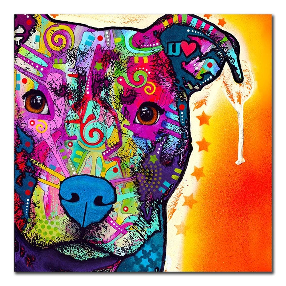 Well Liked Update Your Home With This Stylish Decor, Which Gives Any Room A Inside Pitbull Wall Art (View 6 of 15)