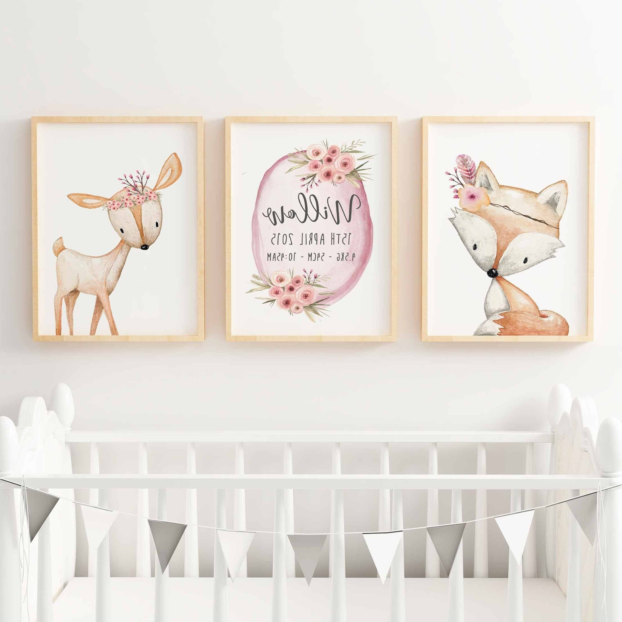 Well Liked Wall Art For Little Girl Room Throughout Baby Girl Wall Art Etsy (View 14 of 15)