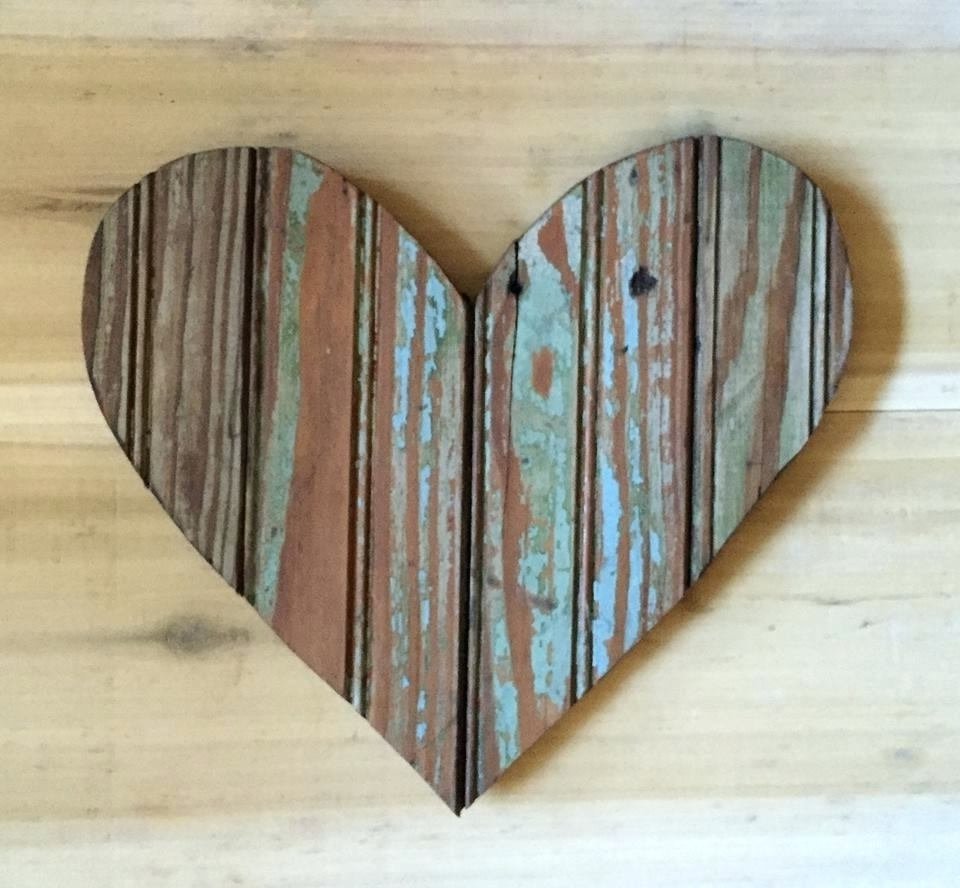 Well Liked Wall Arts ~ Heart Shaped Wood Wall Art Wood Heart Wall Art Pertaining To Driftwood Heart Wall Art (View 3 of 15)