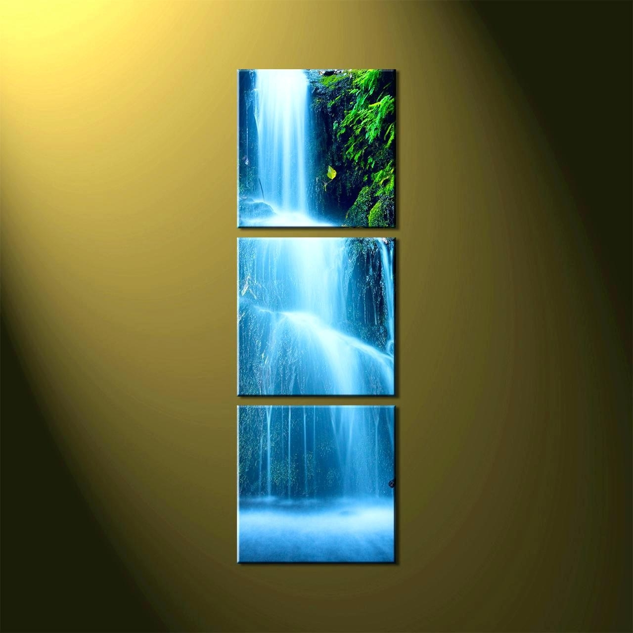 Well Liked Wall Arts ~ Waterfall Motion Art For Sale On Ebay Youtube With Regarding Moving Waterfall Wall Art (View 15 of 15)