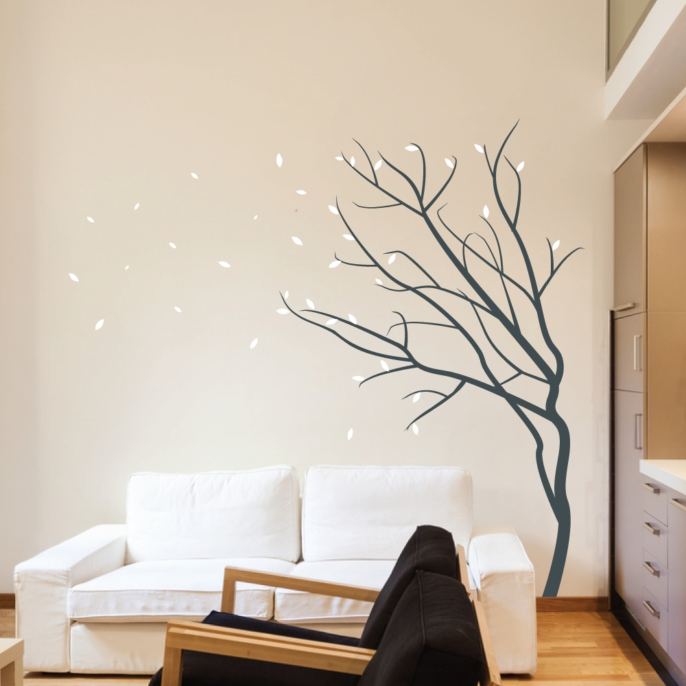 Well Liked Wall Sticker Art Winter Season — Awesome Homes : Wall Sticker Art Inside Wall Cling Art (View 15 of 15)