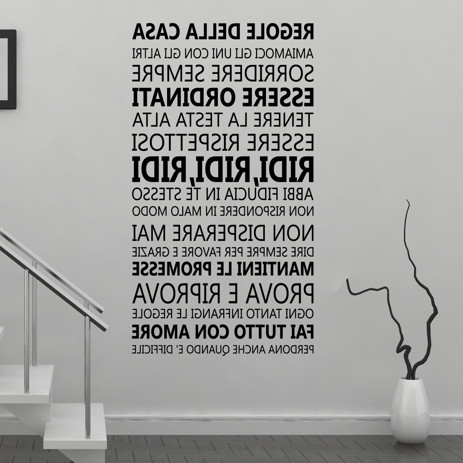 Well Liked Wall Stickers Uk – Wall Art Stickers – Kitchen Wall Stickers For Black And White Italian Wall Art (View 15 of 15)