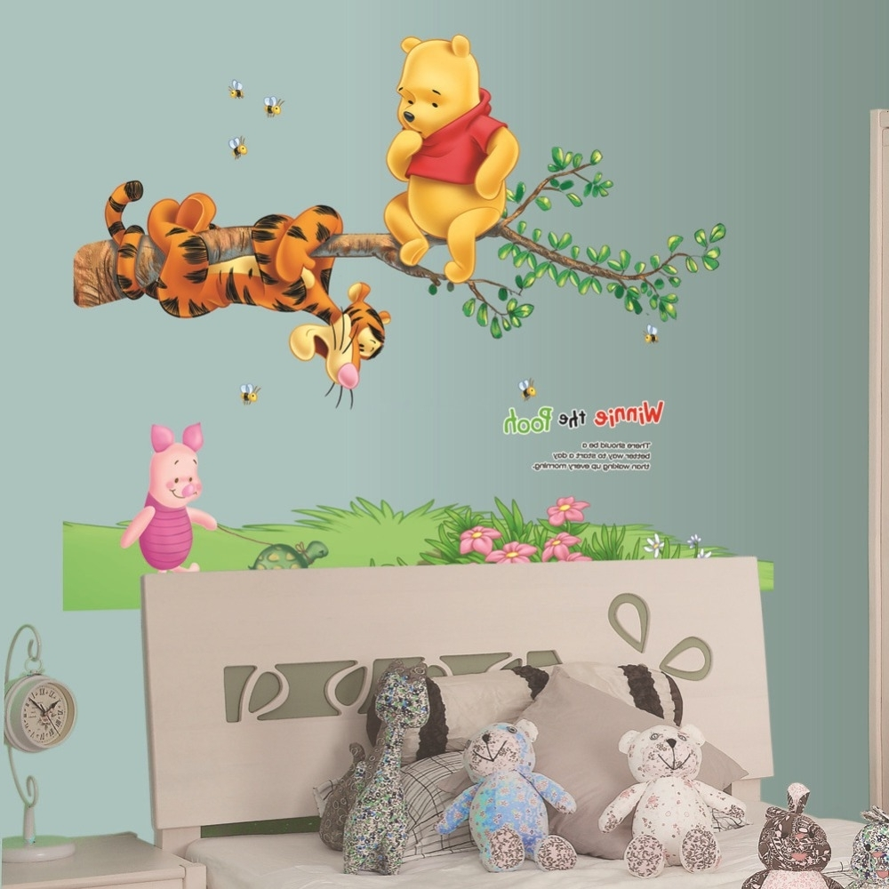 Well Liked Winnie The Pooh Tigger Piglet Tree Wall Stickers Home Decor Inside Winnie The Pooh Wall Decor (View 13 of 15)