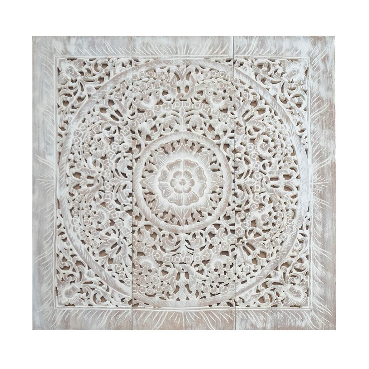 Well Liked Wooden Wall Art Panels In Balinese Antique Wood Carving Wall Art Panel – Siam Sawadee (View 2 of 15)