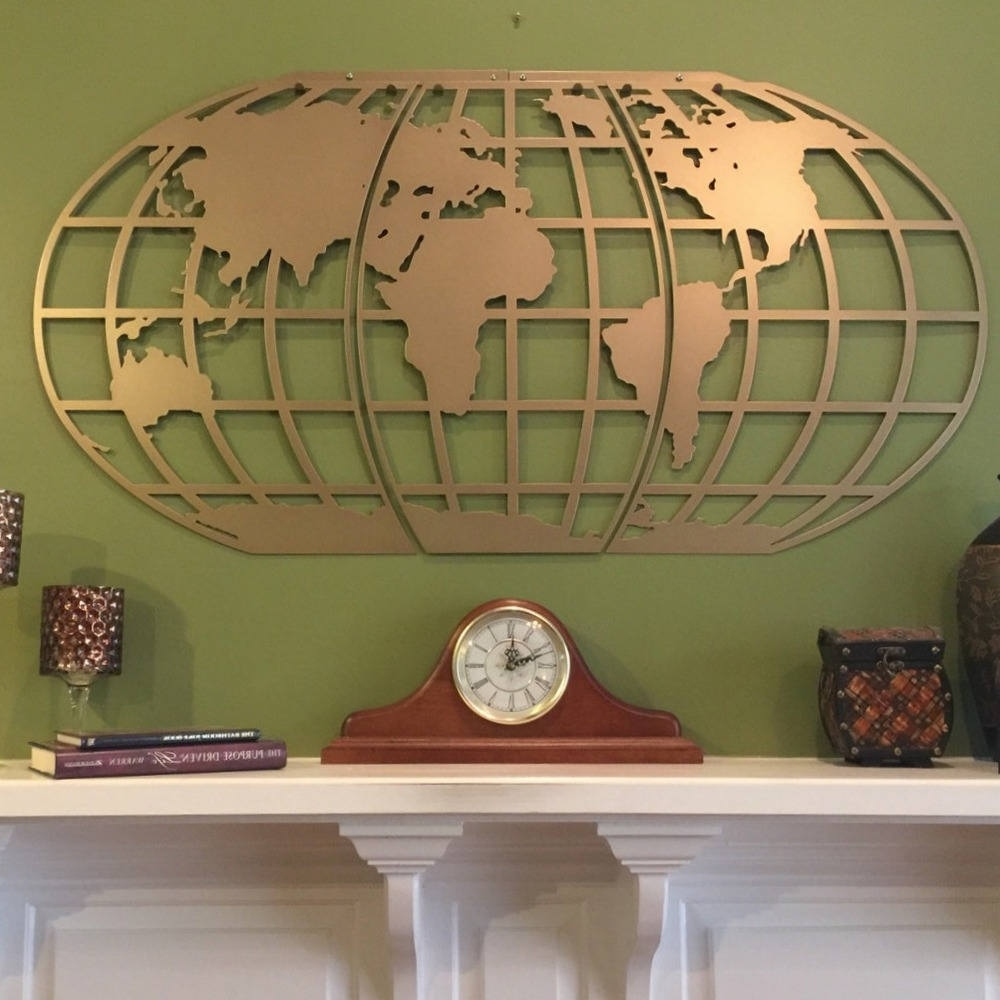 Well Liked World Map/ Atlas / Globe/ Metal Wall Art Throughout Atlas Wall Art (View 12 of 15)