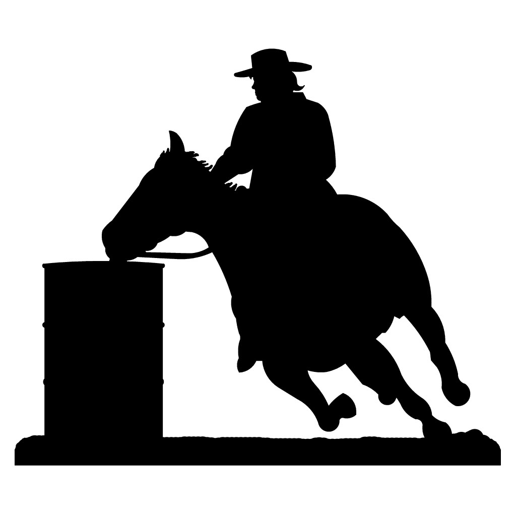 Western Metal Art Silhouettes For Trendy Amazing Barrel Racing Western Steel Metal Wall Art (View 11 of 15)