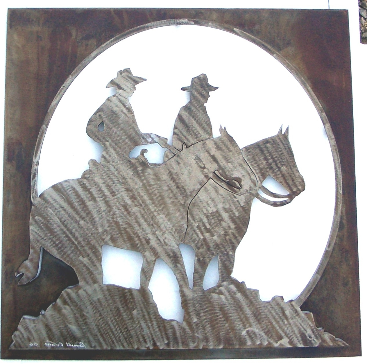 Western Metal Art Silhouettes In Most Up To Date Order Custom Western Metal Art Pieces & Ranch Signs Online (View 12 of 15)