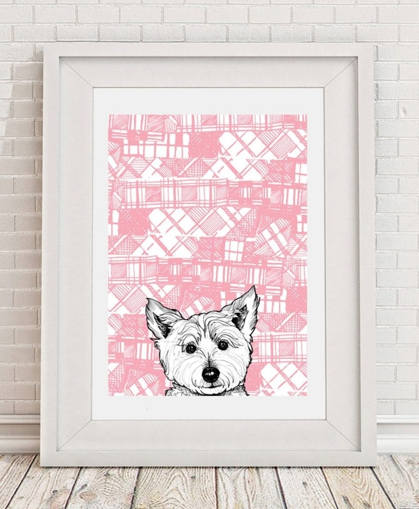 Westie Wall Art Intended For Most Popular Gillian Kyle Scottish Wall Art Tartan Westie Canvas Print (View 13 of 15)