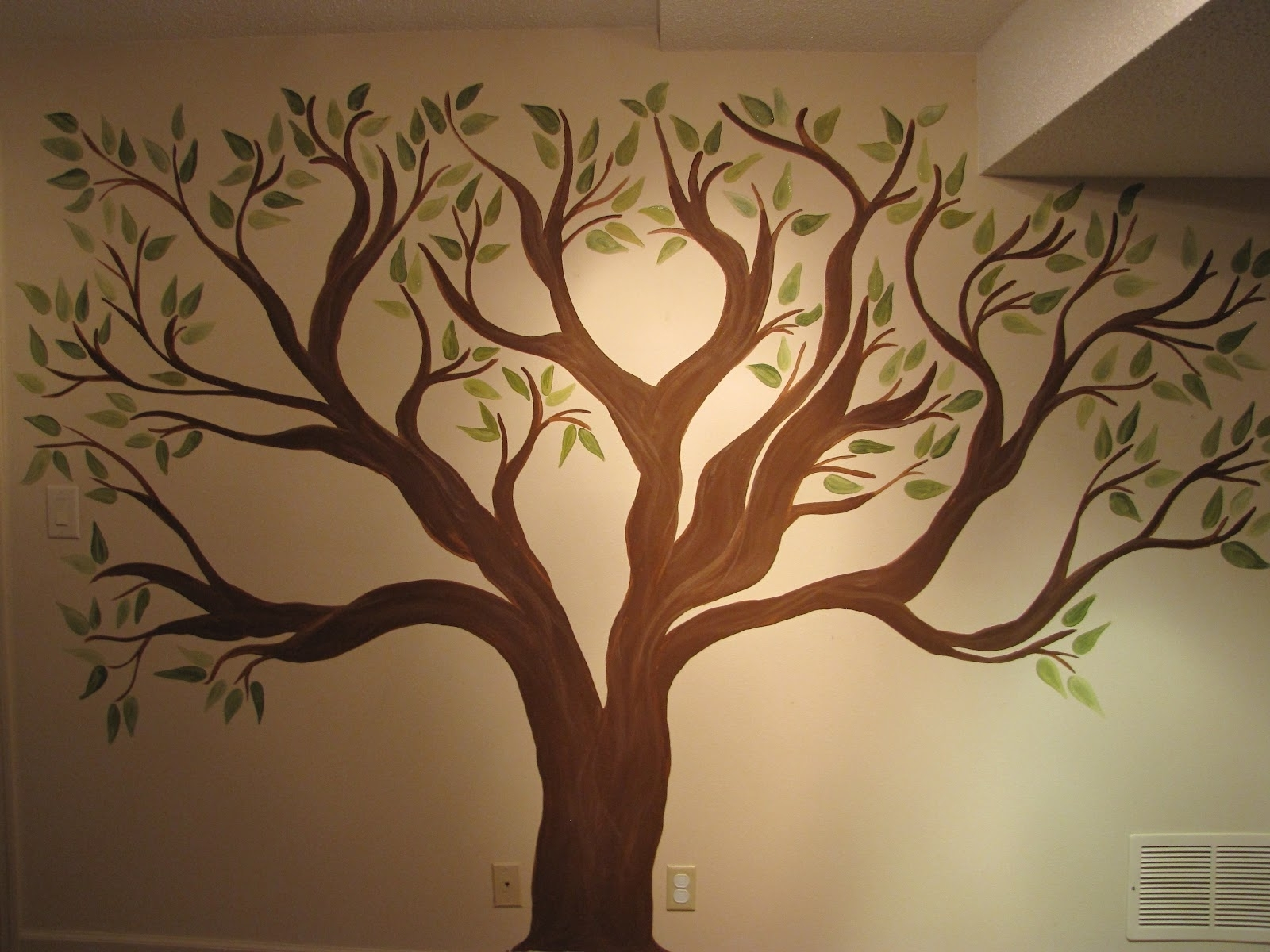 While Ago To Do A Family Tree Mural (View 14 of 15)