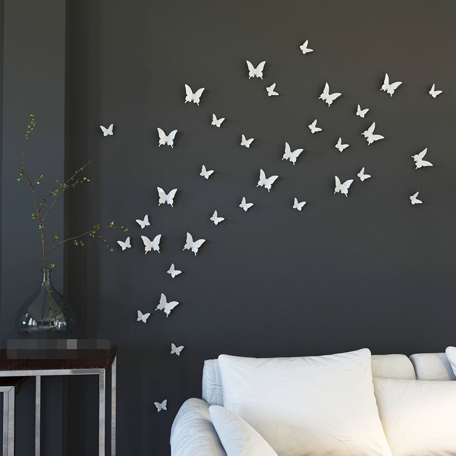 White 3D Butterfly Wall Art Within Well Known Mariposa Appear In Gossip Girl 12Pcs/pack 3D Decorative (View 14 of 15)