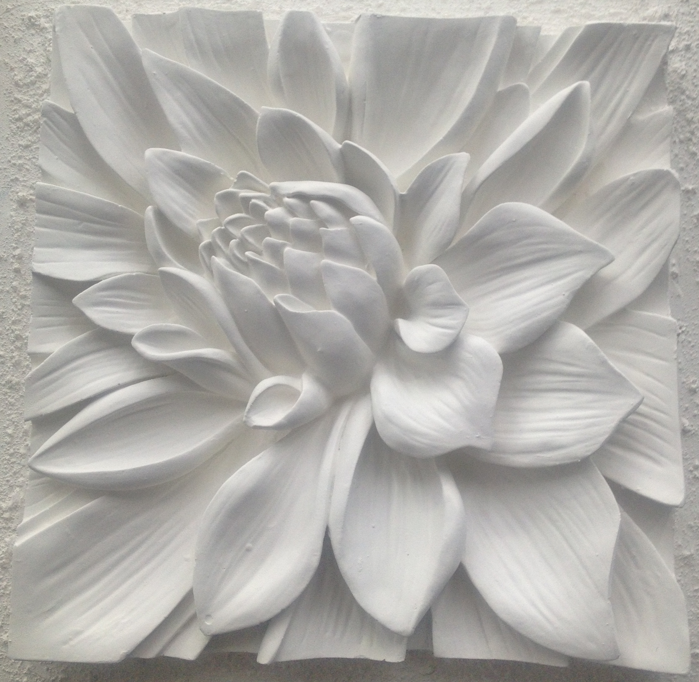 White 3d Wall Art Inside Favorite 3d Flower Wall Art Etsy (View 1 of 15)