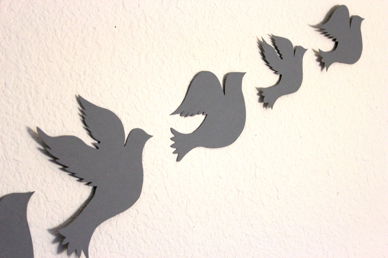 White Birds 3D Wall Art Inside Trendy Wall Decor: Awesome Paper Bird Wall Decor Metal Bird Wall Art (View 13 of 15)