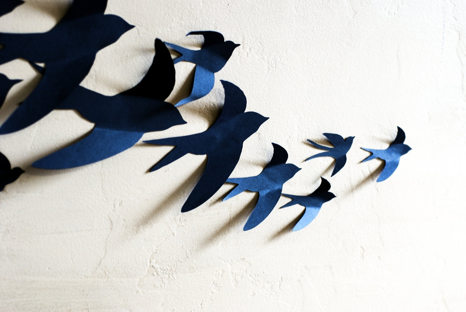 White Birds 3D Wall Art Pertaining To Most Current Plain Ideas Bird Wall Art Simple Decorating Birds Small Metal (View 14 of 15)