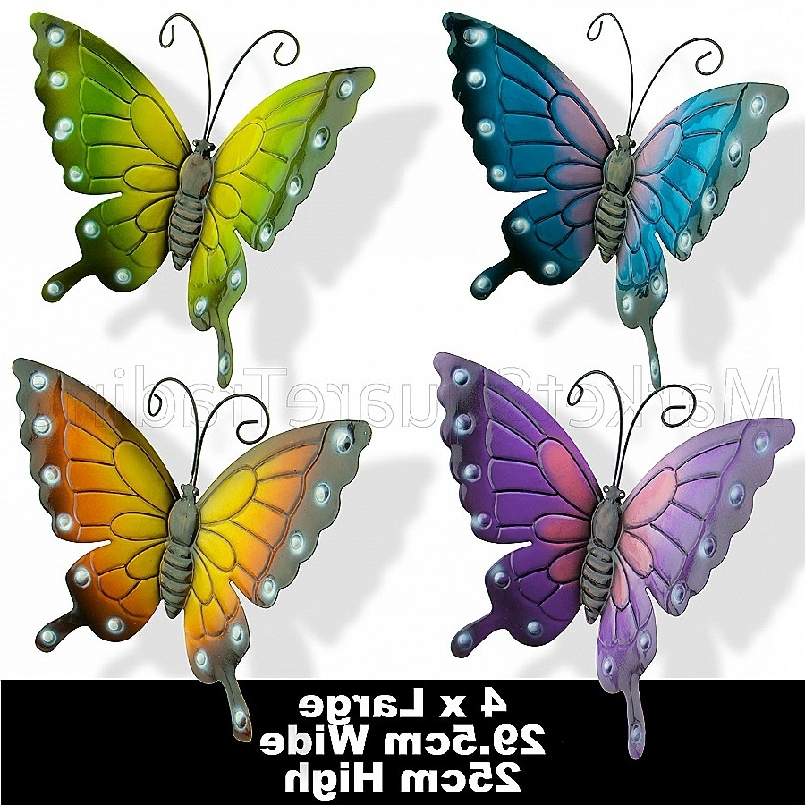 White Metal Butterfly Wall Art Best Of 40 Butterfly Outdoor Wall Intended For Well Known White Metal Butterfly Wall Art (View 11 of 15)