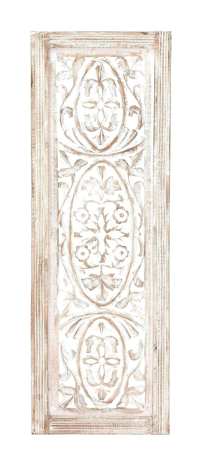 White Wooden Wall Art With Trendy Wall Arts ~ Whitewashed Wooden Wall Art Carved Doors Wall Decor (View 8 of 15)