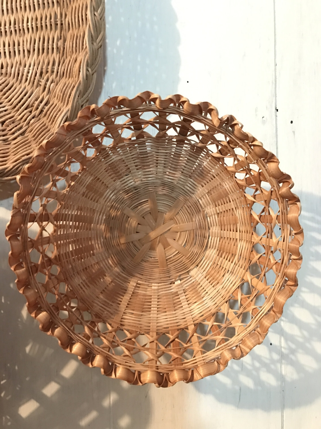 Wicker Rattan Wall Art Inside Recent Bright And Modern Rattan Wall Decor With Vintage Round Basket (View 15 of 15)