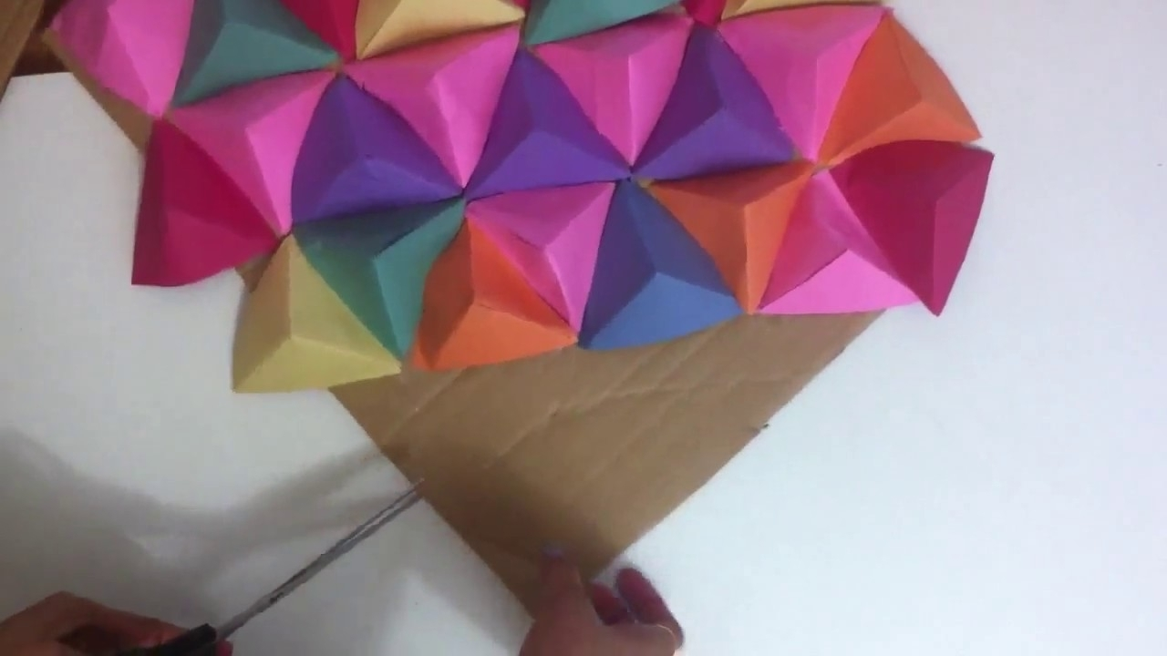 Widely Used 3d Triangle Wall Art For Wall Art 3d/paper Triangle Wall Art (View 3 of 15)