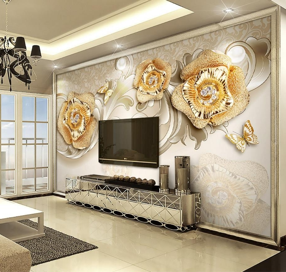 Widely Used 3d Wall Art Wallpaper Regarding European 3d Wallpaper Nature Photo Wallpaper 3d Wall Murals 3 D (View 2 of 15)