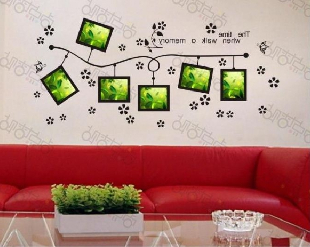 Widely Used 3D Wall Art Words With Regard To Word Wall Decorations Memory Photo Frame Wall Art Word Stickers (View 14 of 15)