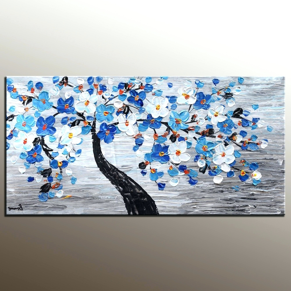 Widely Used Abstract Garden Wall Art Throughout Wall Arts ~ Abstract Painting Canvas Art Flower Tree Painting Wall (View 9 of 15)