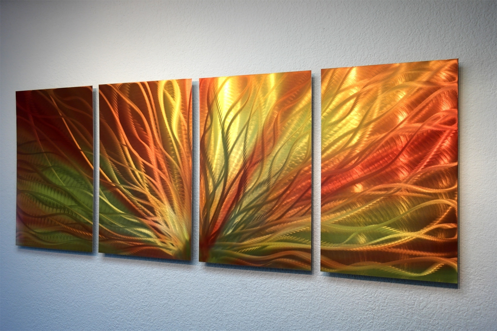 Widely Used Abstract Metal Wall Art Painting In Radiant Sunrise Metal Wall Art Abstract Contemporary Modern Decor (View 6 of 15)