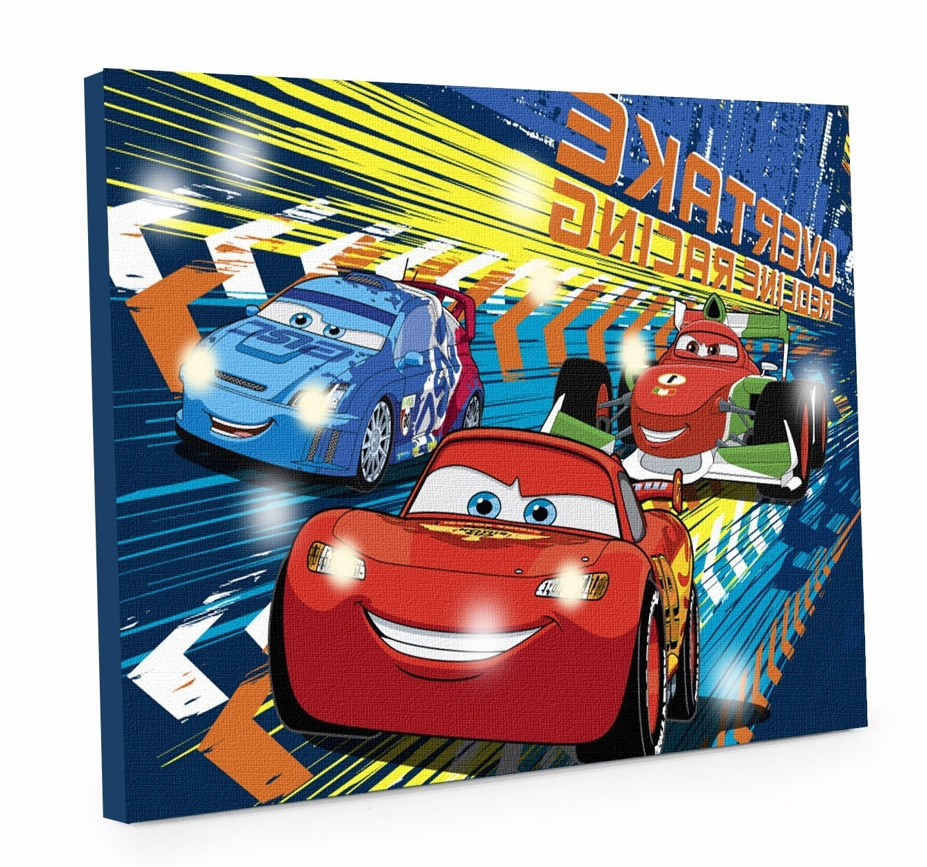 Widely Used Amazon: Disney Cars 3 Led Canvas Wall Art, 15.75 Inch X (View 14 of 15)