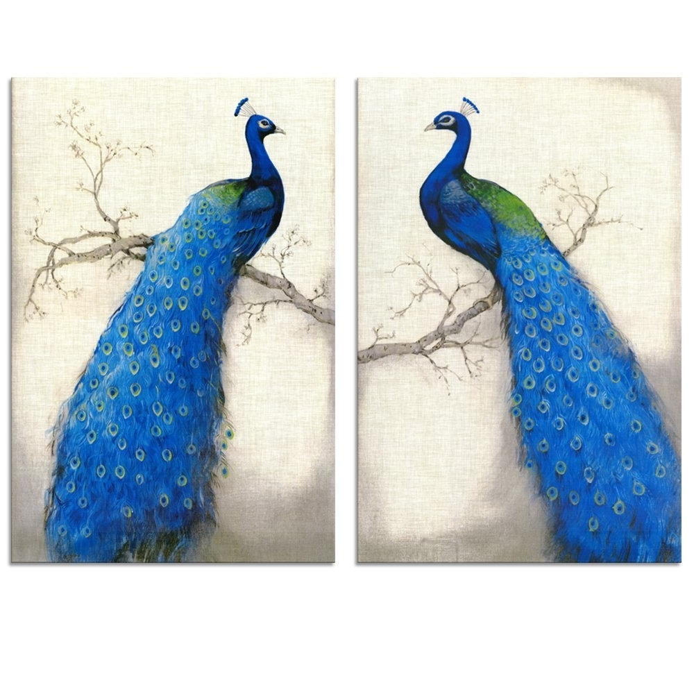Widely Used Amazon: Peacock Canvas Art Prints, Peacock Canvas Wall Art Intended For Jeweled Peacock Wall Art (View 15 of 15)