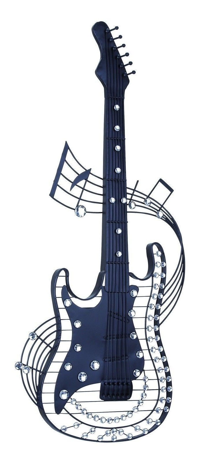 Widely Used Black Electric Guitar Metal Music Wall Art Rock Star Music Teen Regarding Guitar Metal Wall Art (View 7 of 15)