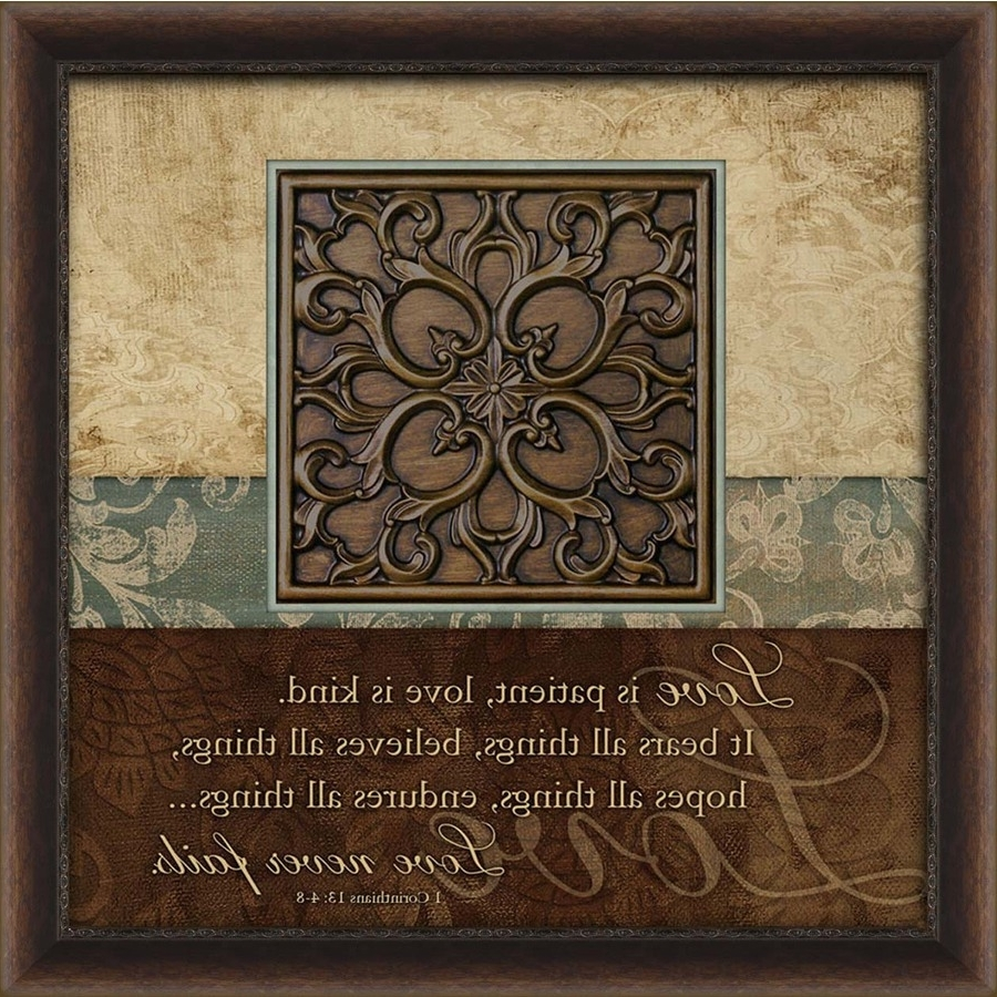 Widely Used Brown Framed Wall Art Regarding Shop Wall Art At Lowes (View 4 of 15)