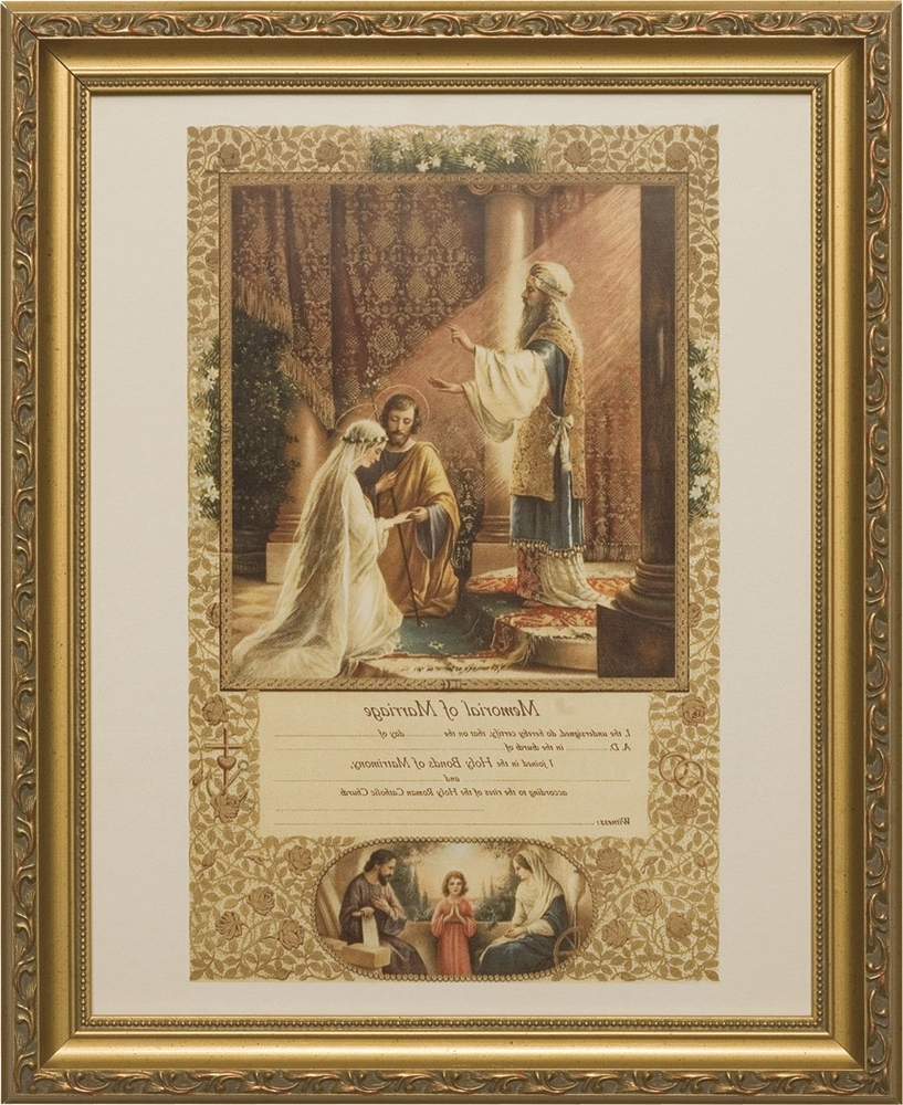 Widely Used Christian Framed Wall Art Inside Certifiacte Of Marriage View 15